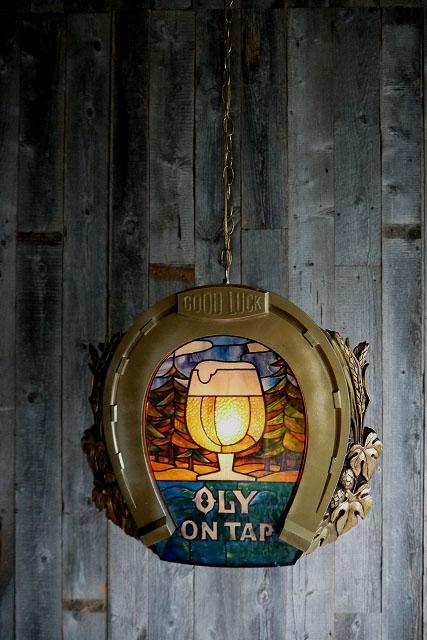 画像1: ビンテージ OLIMPIA BEER プールランプ (1)