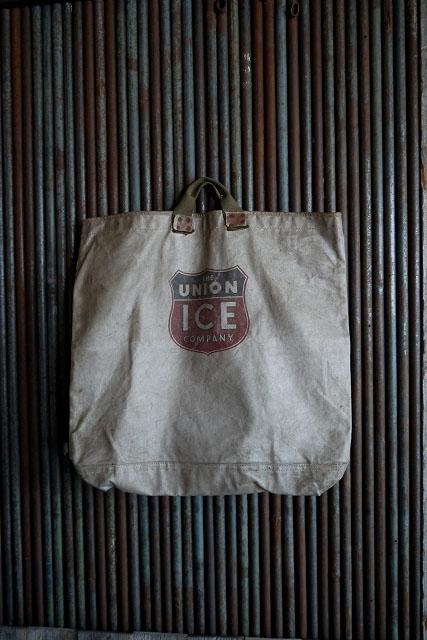 画像1: ビンテージ The Union Ice Company  大型トートバック (1)