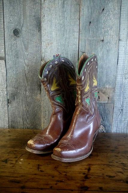 画像1: ビンテージ Cowboy ウエスタンブーツ (1)