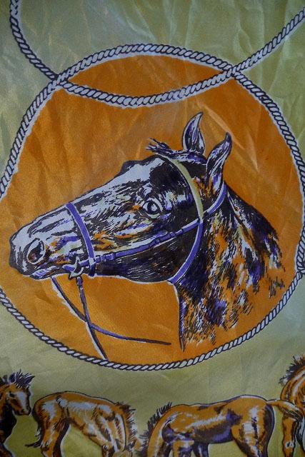 画像1: ビンテージ Cowboy Design スカーフ (1)