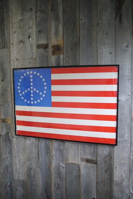 画像1: ビンテージ PEACE FLAG ポスター (1)