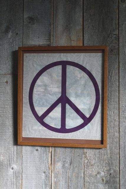 画像1: ビンテージ PEACE アート壁掛け (1)