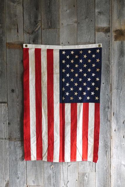 画像1: ビンテージ D.STOCK USAミニ星条旗 (1)